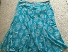 ANOKHI FOR EAST STUNNING ETHNIC PRINT COTTON SKIRT SZ 16 BNWT