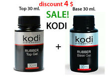 LOWEST PRICE!!! 30 ml. Kodi Professional - Gel LED/UV Rubber TOP + Rubber Base