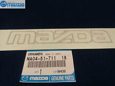 MAZDA MIATA 1990-1992 NEW OEM LIGHT GREY FRONT BUMPER MAZDA STICKER DECAL