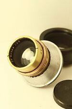 "ROSS LONDON Xpres 3"" inch (76mm) f/3.5 vintage brass lens M39 Mount"