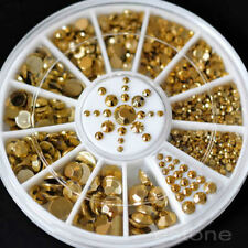 Hot Nail Art 3D Glitter Rhinestone Decoration Craft CRYSTAL Gem Pearl Gold Stud