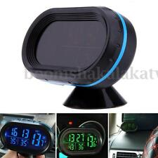 Digital Car Clock Indoor Outdoor Thermometer Voltmeter Vehicle Auto LED Display