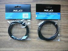 Two Bicycle Shift Cable & Housing Kit BLACK Mountain/Road Bike Universal Gear