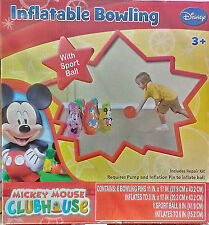 Disney  Mickey Mouse Inflatable Bowling - With Sport Ball In/Outdoor Garden Game