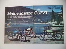 advertising Pubblicità 1973 MOTO GUZZI 125 STORNELLO/125 SCRAMBLER/160
