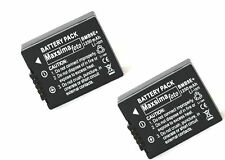 TWIN PACK Battery DMW-BMB9 1250mAhfor PANASONIC Lumix DMC FZ150, FZ100, FZ72 etc