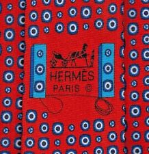 "Cool Brand New Hermes Tie Heavy Silk Twill Rich Orange-Red ""Boumbox"" Mint!"