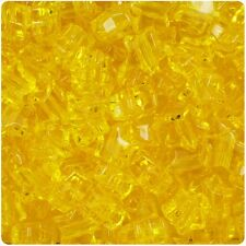 250 Dark Yellow Transparent 13mm Star Pony Beads Plastic Made in the USA