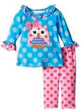 Bonnie Jean Girls Snowflake Owl Christmas Holiday Tunic Leggings Outfit 3T New