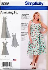 ©2016 SIMPLICITY SEWING PATTERN 8096 WOMEN'S SZ 18W-24W CUSTOM FIT DRESS & MAXI