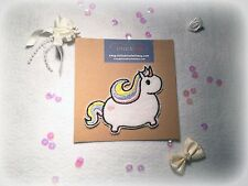 1 x Kawaii Unicorn Iron On Patch - Iron or Sew