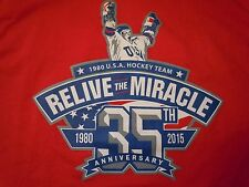 USA HOCKEY MIRACLE ON ICE RELIVE THE MIRACLE XL TEE1980 OLYMPICS LAKE PLACID