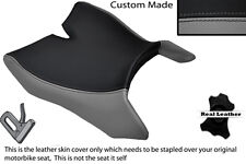 GREY & BLACK CUSTOM FITS MOTOHISPANIA RX 125 R 09-14 FRONT LEATHER SEAT COVER