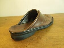 Vintage Clarks Women's Mules Clogs Size 11M Brown Leather Upper