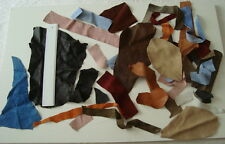 ASSORTED LEATHER AND SUEDE OFFCUTS - TOYS,CRAFTS, COLLAGES,  - #3086