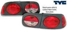 1992-1995 Honda Civic 2/4D Tail Light Paint Ready Black or Carbon Fiber Look TYC