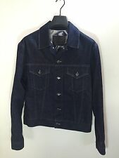 Gucci Tom Ford Dark Denim Jacket Abstract Floral Lining Size 48