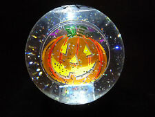 Hallmark Gift Bag Halloween Pumpkin Flashing Lighted Changing Snow Globe NEW
