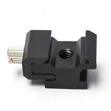 Cold Shoe Hot Shoe To 1/4 Thread Screw Flash To Bracket Mount Adapter Trigger