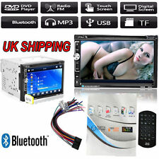 "Double 2 Din 7"" In Dash Stereo Car DVD CD Player Bluetooth FM Radio SD/USB UK"