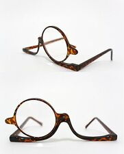MAKEUP READING GLASSES with MAGNIFYING FLIP-UP LENS tortoise shell POWER  +2.50