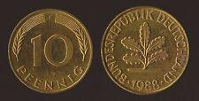 GERMANIA GERMANY 10 PFENNIG 1988 F