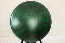 "Ajna Steel Handpan 16"" 11 Tone Tongue Drum with Case - Minor Scale USA Made"