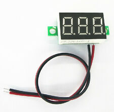 Neu Blau LED Panel Meter Mini Lithium Battery Digital Voltmeter DC 3.0V - 30V