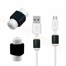 2x Kabelschutz Ladekabel Schutz Kappen für Samsung Galaxy S GT-i9000 SCHWARZ