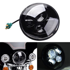 """7"""" Black Round Projector Daymaker HID Hi/Lo LED Headlight For Harley Motorcycle"""