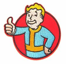 Fallout Iron On Patch- XBox PS4 Game Gaming Embroidered Applique Sew Crafts