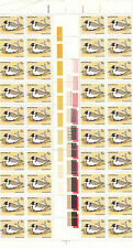 Stamps Australia 1978 Hooded Dotterel 5c bird in gutter strip of 40, MUH