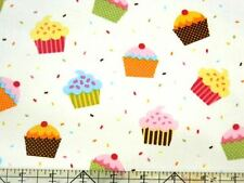 Robert Kaufman Confections Cupcakes Pastel Fabric