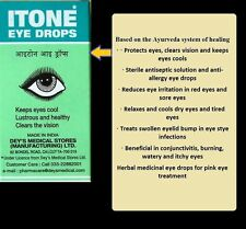 Itone Ayurvedic Eye Drops Conjunctvitis Clears vision cool eyes 10ML Ayurvedic