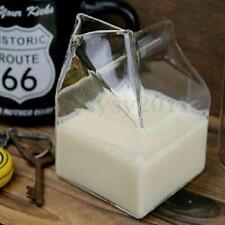 Half COW Pint Creamer Milk Carton Glass BOXED JUG Cup Coffee Drink Bottle Mug UK