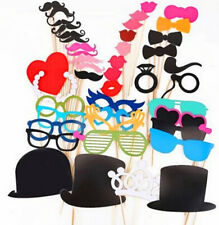 44pcs Mask Moustache Photo Booth Stick Photography Birthday Party Wedding Props