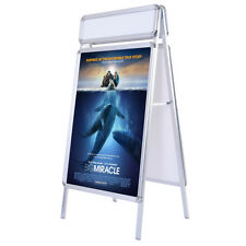 New Portable A-Frame Display Board Snap Poster Stand Holder w/ Extra Header