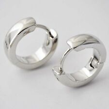gorgeous small White Gold Filled womens Round Earing hoop huggie earrings new