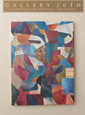 EPIC! TWENTIETH CENTURY CUBIST ABSTRACT ORIG OIL PAINTING! Art Vtg Music Braque