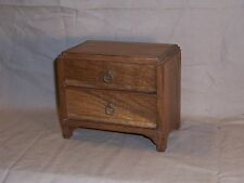 Vintage American Oak Small Folk Art Doll Furniture Jewelry Chest Dresser