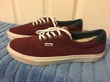 Mens Vans Era Suede Trainers Sneakers US 10 UK 9 Burgundy/ Maroon