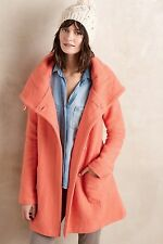 NEW Moth Boiled Wool Sweater Coat Size XSmall Pink Orange Anthropologie