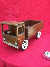 Vintage Large Wooden Toy Dumper Truck Hand Made 1940 Rustic,prop,Plant Stand