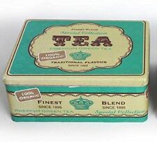 Retro Vintage Tea Storage Kitchen Canister Container Tin ~ Green Container