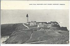 1918 Postcard View, Cape Foul Weather Light House, Newport, Oregon (Patton P.C.)