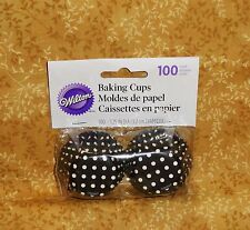 Polka Dot, Black/white Mini Bake Cups,Cupcake Papers,100 ct. Wilton.Minnie Mouse