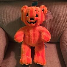 2016 Build-A-Bear Halloween Exclusive ORANGE BEAR-O-LANTERN PLUSH  pumpkin