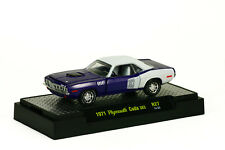 1:64 M2 MACHINES DIECAST METAL PLUM CRAZY 1971 PLYMOUTH CUDA 383 R27 14-55