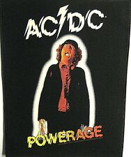AC/DC Powerage giant backpatch sew-on cloth patch 360mm x 300mm  (mm)