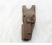 Tactical Holster left Hand Paddle with Belt Holster for Colt 1911 M1911 Tan